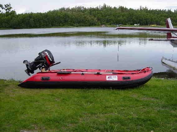 Alaskan Jet Ranger Inflatable Jet Boat, Built for a 25HP Jet